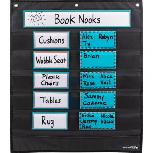 Programmable Pocket Chart and Cards  Waves  Medium Black