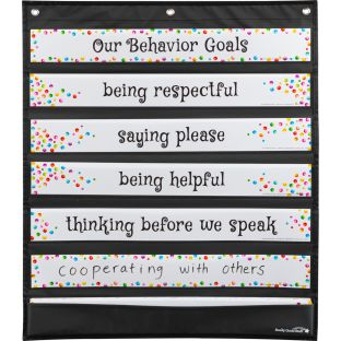 Behavior Focus Pocket Chart and Cards - 1 pocket chart, 31 cards