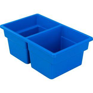 Small Two-Compartment All-Purpose Bin  Single