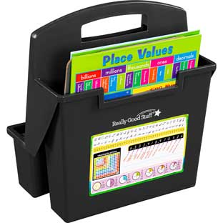 On-The-Go Caddies With Intermediate Self-Adhesive Vinyl On-The-Go Helpers - 6 caddies, 6 Helpers