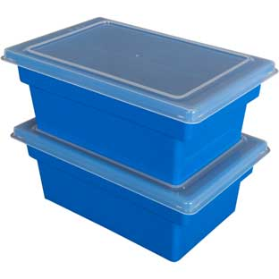 All-Purpose Bins And Lids  Set Of 12  Single Color