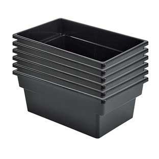 Single-Color Multi-Use Storage Bins  Set Of 6