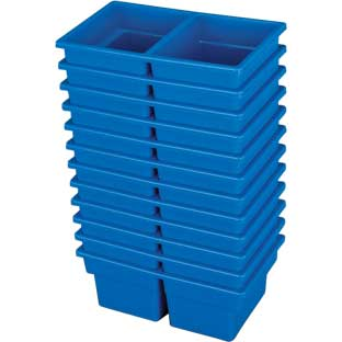 Small Two-Compartment All-Purpose Bin - Set of 12
