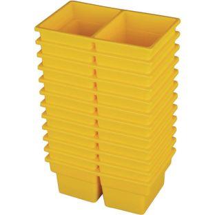 Small Two-Compartment All-Purpose Bin - Set of 12