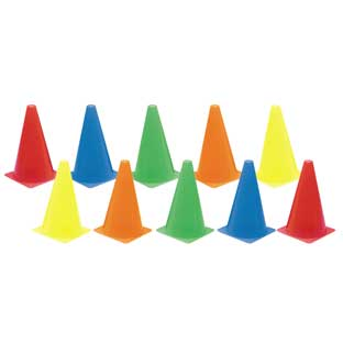 Colored Cones  Set of 10 by Discount School Supply