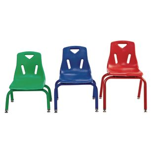 "14"" Stacking Chairs with Matching Legs - Set of 6"