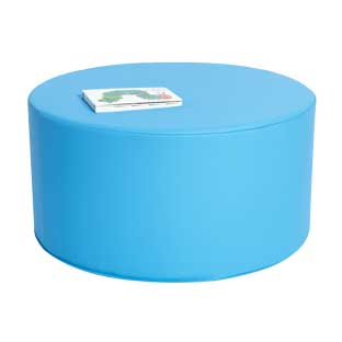 "Environments Round Social Seating  24""Dia. Blue - 1 seat"