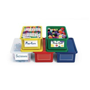 MyPerfectClassroom Easy-Label Bin - Blue - 1 bin