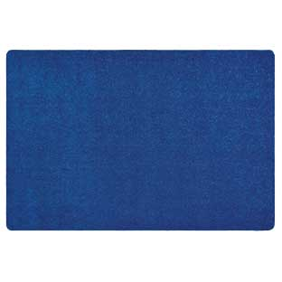 MyPerfectClassroom Premium Solid Carpet 4' x 6' Blue - 1 carpet