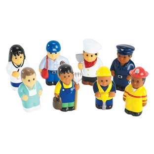 Soft Multicultural Career Figures  Set of 8 by Discount School Supply