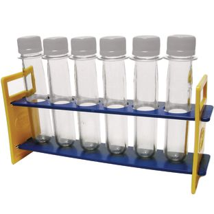 Large Plastic Test Tubes with Caps and Rack  6 test tubes 1 rack by Really Good Stuff LLC