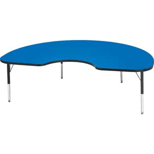 "Jonti-Craft® Berries® Activity Tables - 48"" x 72"" Kidney - Elementary Height"