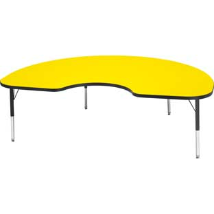 "Jonti-Craft® Berries® Activity Tables - 48"" x 72"" Kidney - Toddler Height"