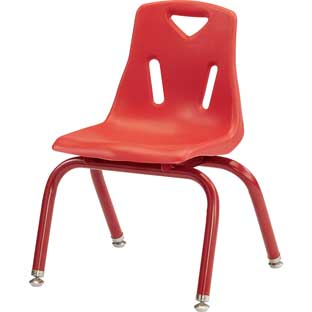 "Jonti-Craft® Berries® Stacking Chairs - Powder-Coated - 12"" Seat Height Set Of 6"