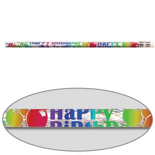 Birthday Blitz Pencils - 12 pencils.