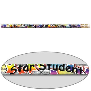 Star Student Pizzazz Pencils - 12 pencils