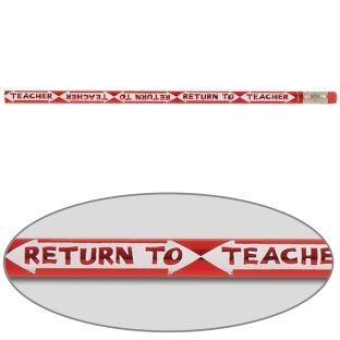 Return To Teacher Pencils - 12 pencils
