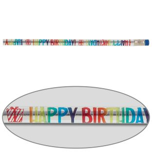 Happy Birthday Pencils - set of 12 pencils.