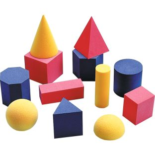 Easy Shapes 3-D Geometric Shapes - 12 shapes