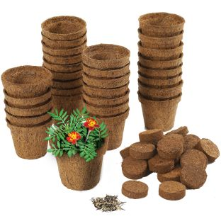 Wonder Soil Classroom Gardening Kit - 30 pots, wonder soil wafers with marigold seeds
