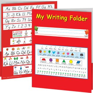 My Writing Folder - D'Nealian - 12 folders