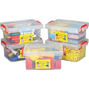 Stackable Storage Tubs With Locking Lid- Small - 5 tubs, 5 lids