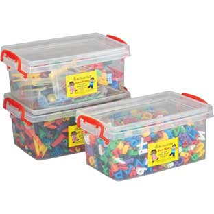 Stackable Storage Tubs With Locking Lids, Med. - 3 tubs