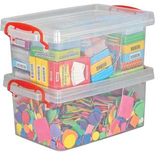 Stackable Storage Tubs With Locking Lids, Large - 2 tubs, 2 lids