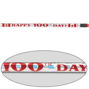 Happy 100th Day Pencils - set of 12 pencils.