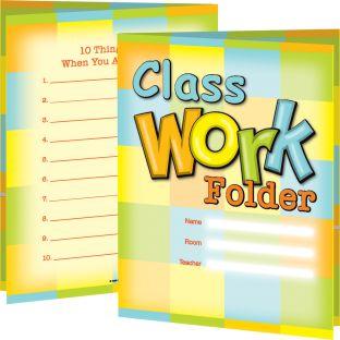 Classwork Folders - 12 folders