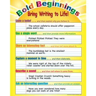 Bold Beginnings: Bring Writing to Life! Poster