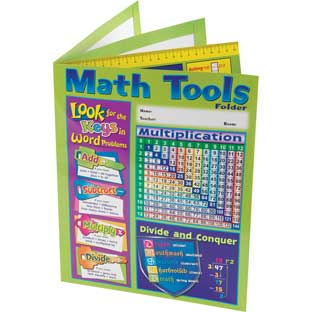 4 Pocket Math Resource Folder Intermediate - 12 folders