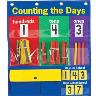 Counting The Days Pocket Chart™ - 1 pocket chart, 285 pieces