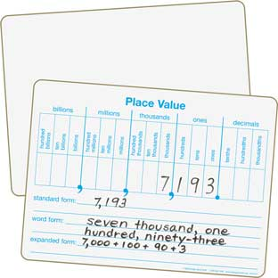 Place Value Dry Erase Board Set