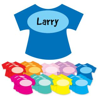 Student Name T-Shirt Magnets - set of 32.