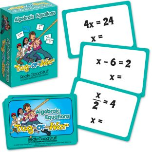 Really Good Tug-Of-War: Simple Algebraic Equations - 64 cards
