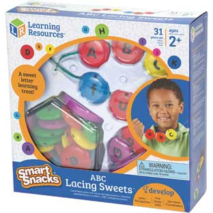 Smart Snacks® ABC Lacing Sweets™ - 26 beads, 2 laces