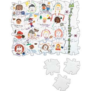 We All Fit In Puzzle Refill - 1 blank puzzle