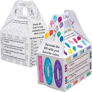 Ready-To-Decorate® Happy 100th Day! Collection Boxes - 12 boxes