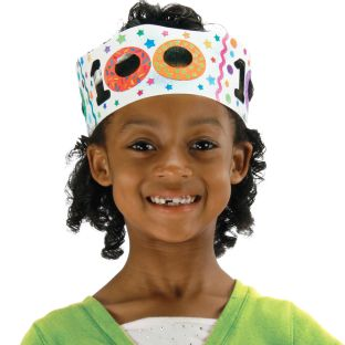 Ready-To-Decorate® 100th Day Crowns - 24 crowns