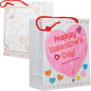 Ready-to-Decorate® Collect And Carry Valentine's Day Bags - 12 bags