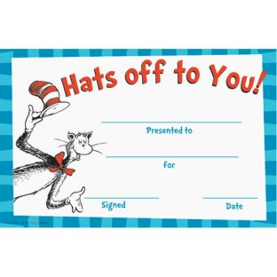 Dr. Seuss™ Hats Off To You! Recognition Awards - 36 awards