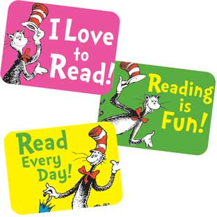 Dr. Seuss™ Cat In The Hat Reading Success Stickers - 120 stickers