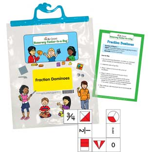 Numeracy Center-In-A-Bag™: Fraction Dominoes
