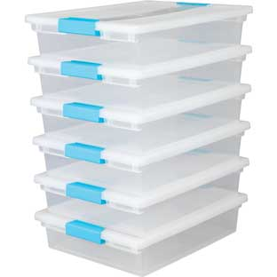 Group-Materials Stackable Trays - 6 trays, 6 lids