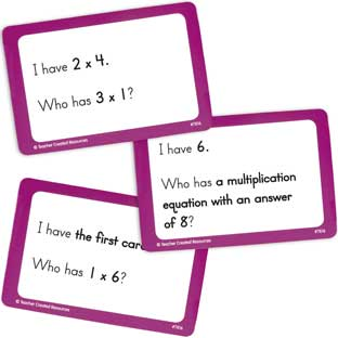 I Have...Who Has...? Math Cards - Grades 3-4