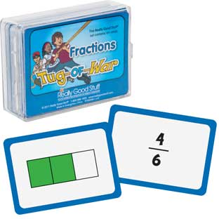 Really Good Tug Of War - Fractions - 64 cards