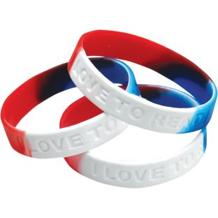 I Love To Read! Silicone Bracelet - 24 bracelets