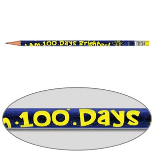 I Am 100 Days Brighter! Pencils - 12 pencils