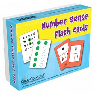 Number Sense Flash Cards - 95 flash cards